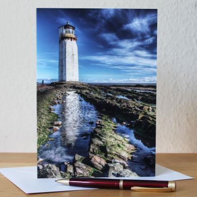 Southerness Lighthouse Blank Photographic Greetings Card