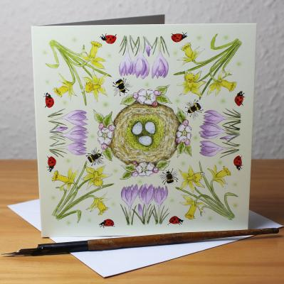 Spring Blank Greetings Card