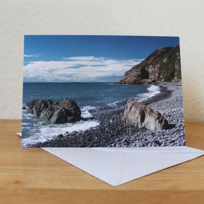 St Ninians Cave Dumfries and Galloway Photographic Greetings Card
