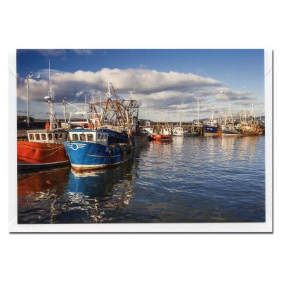 Stranraer Harbour Blank Photographic Greetings Card A6