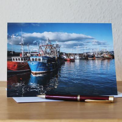 Stranraer Harbour Dumfries and Galloway Photographic Greetings Card