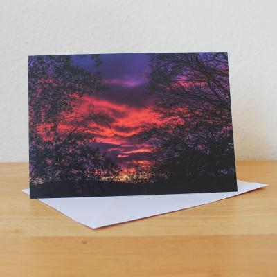 Sunset Dumfries & Galloway Blank Photographic Greetings Card