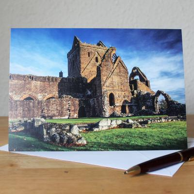 Sweetheart Abbey Blank Photographic Greetings Card