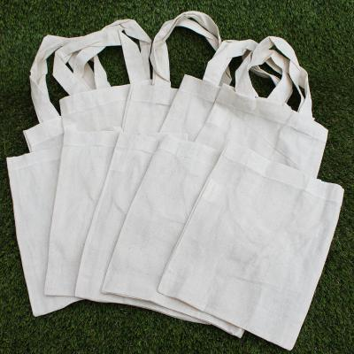 Pack of Ten Natural Cotton Party Bags