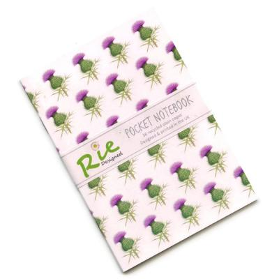 Scottish Thistle A6 Recycled Notebook