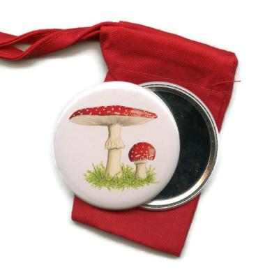 Toadstool  Pocket Handbag Mirror