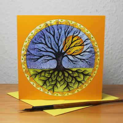 Tree of Life Blank Greetings Card