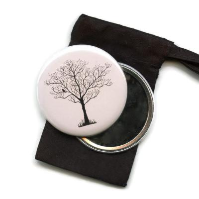 Tree Silhouette Pocket Handbag Mirror
