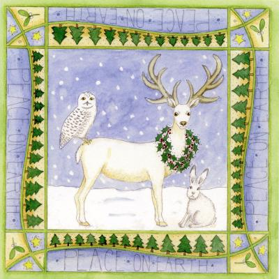 White Stag Blank Christmas Greetings Card