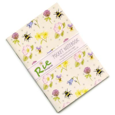 British Wild Flowers A6 Recycled Notebook