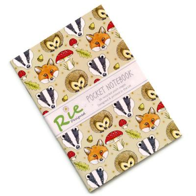 Woodland Animals A6 Recycled Notebook