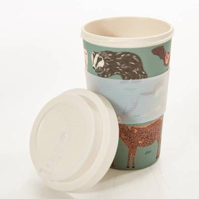 Woodland Animals Bamboo Reusable Coffee Cup