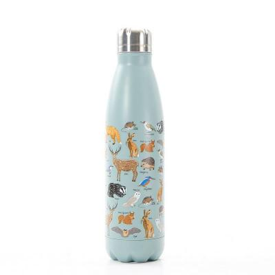 Woodland Animals Stainless Steel 500ml Thermal Bottle