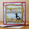 Black Guillimot Portpatrick Blank Greetings Card