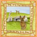 Brown Hare Cairn Holy Blank Greetings Card