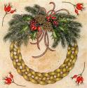 Celtic Wreath Blank Christmas Greetings Card
