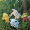 Four Assorted Easter Mini Soft Toys