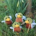 Four Mini Duck Soft Toys