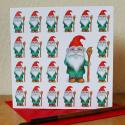 Garden Gnome Blank Greetings Card
