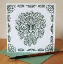 Greenman Blank Greetings Card