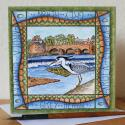 Heron Dumfries Blank Greetings Card