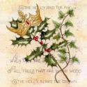Holly and the Ivy Blank Christmas Greetings Card