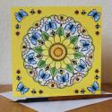 Nature Mandala Blank Greetings Card