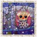 Patchwork Owl Blank Christmas Cards