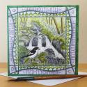 Pied Flycatcher Blank Greetings Card
