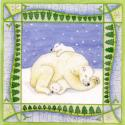 Polar Bear Blank Christmas Greetings Card