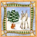 Reindeer and Red Squirrel Blank Christmas Greetings Card