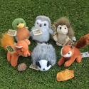 Six Mini Wildlife Soft Toys