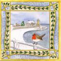 Snowy Portpatrick Blank Christmas Greetings Card