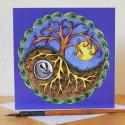 Yin and Yang Badger Blank Greetings Card