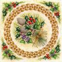 Yule Bouquet Blank Christmas Greetings Card