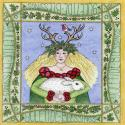 Yuletide Goddess Blank Christmas Greetings Card